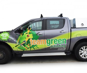 VEHICLE WRAP: TEAM GREEN PAINTING