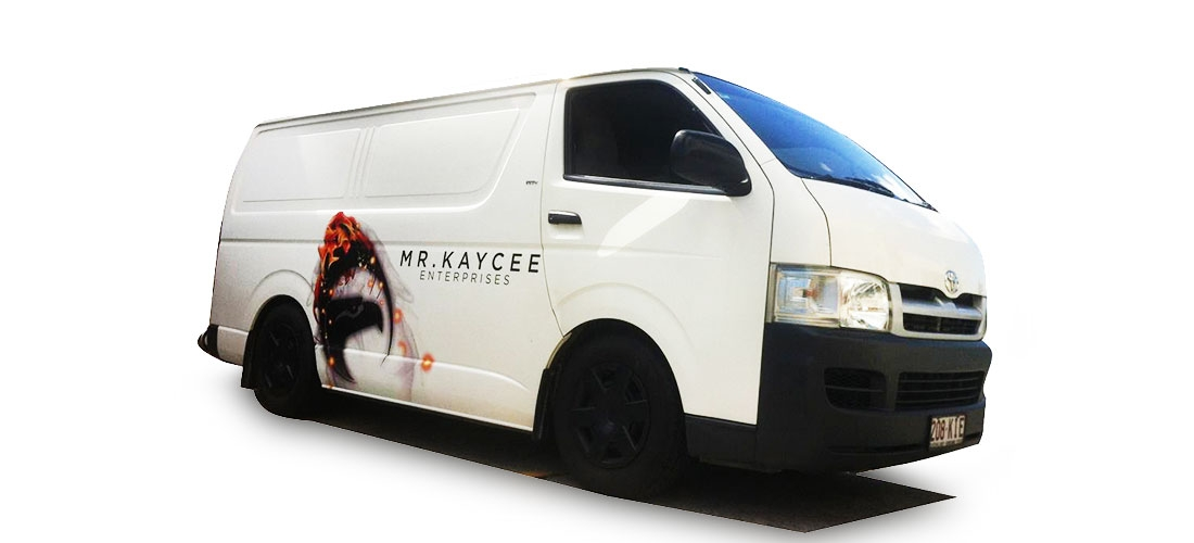 VEHICLE WRAP: MR KAYCEE