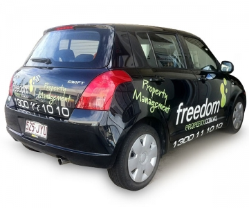 VEHICLE WRAP: FREEDOM PROPERTY MANAGEMENT