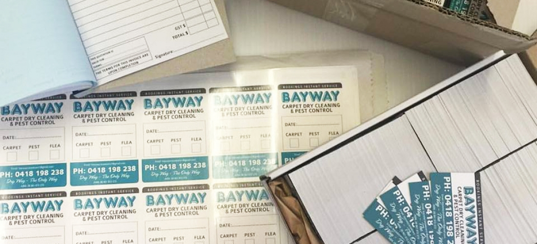 PRINTING: BAYWAY CARPET & PEST CONTROL