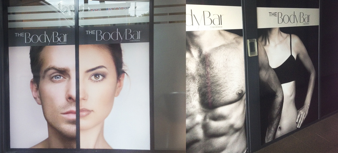 SHOP SIGNAGE: THE BODY BAR